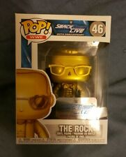 Funko Pop! Wwe SmackDown Live 20th Anniversary Exclusive The Rock Gold In-Hand