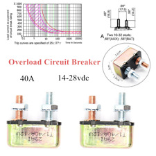 2*Automatic Auto Reset 40AMP Universal  Overload Circuit Breaker For Car RV Bus