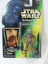 Star Wars POTF 4-Lom Holo Sticker Green Card Figure Kenner 1997 Collection 2