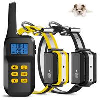 Electric 1100 Yard Remote Pet Dog Training Shock Collar Waterproof Anti Bark