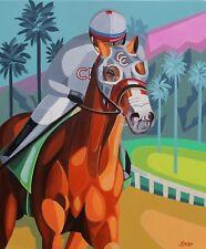 California Chrome Kentucky Derby Winner Original Oil Pacific Classic SFASTUDIO