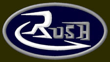 """RUSH EMBROIDERED PATCH ~3-7/8"""" x 2"""" MOTORCYCLE EXHAUST PERFORMANCE AUFNÄHER V2"""