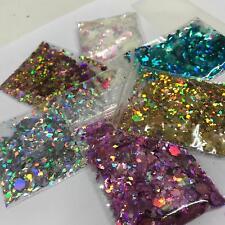 10 Glitter Pots Festival Sparkly Rainbow 1st Class Post Nail Art Makeup Unicorn