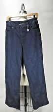 ST. JOHN Sport Dark Wash Jeans Relaxed Straight Fit Size 10
