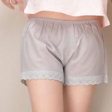 Women Cotton Lace Safety Hot Pants Loose Underwear Under Render Brief Shorts New