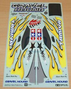 Tamiya 57723 XB Gravel Hound/DF02 1425963/11425963 Decals/Stickers, NEW