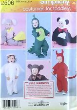 New Simplicity 2506 Costumes for Toddlers mouse panda dragon devil bear angel