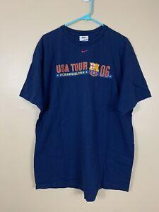 Vintage Y2K Nike Team 2006 USA Tour FC Barcelona Ronaldinho T-Shirt #10 XL