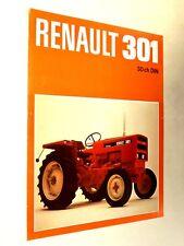 Prospectus Tracteur RENAULT 301  brochure tractor Traktor Trattore Prospekt