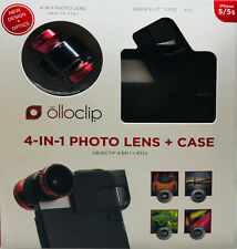 olloclip 4-IN-1 Photo Lens mit ollocase Quick Flip iPhone 5 / 5s, schwarz ,rot