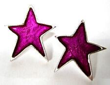 SoHo® Ohrstecker Stern Kunstharz violett lila retro resin star Harz SoHo