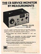 1976 McGraw Edison Model CB27E CR Radio Service Monitor Repair Vtg Print Ad