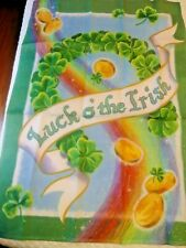 """New listing Luck o' the Irish Clover - Decorative House Flag. Size aprox 39,5"""" x 26,5"""" new"""