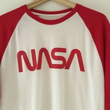NASA, BNWT, USA size large. unisex 3/4 sleeved t-shirt, white & red NASA logo.