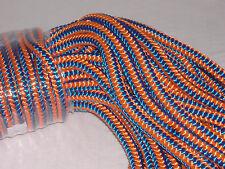 Arborist 12 strand polyester climbing rope 1/2x150 feet blue orange hi vis tree