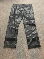 Adidas Chándal Pantalones De Cuero Negro Barrio Tokyo Bnwt Talla M MED AB0582