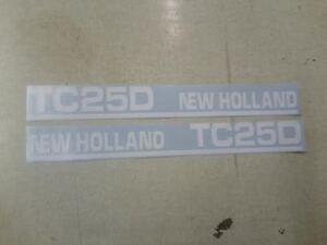 New Holland TC25D decals
