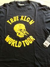 True Religion (mens XXL) Black, Yellow SKULL & Lightning Bolt WORLD TOUR t-shirt