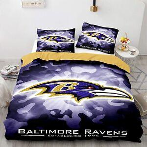 Baltimore Ravens Bedding Set Duvet Cover & Pillowcase 3PCS Quilt Cover Set