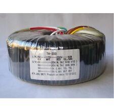 115V/230V 200W Toroid Transformer Output 24V+24V 15V+15V