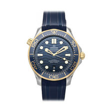 Omega Seamaster Diver 300m Auto Steel Gold Mens Watch Date 210.22.42.20.03.001