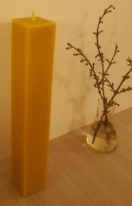 Large 100% pure beeswax candle handmade 12 Inch high