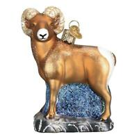 """Bighorn Sheep"" (12536)X Old World Christmas Glass Ornament w/ OWC Box"