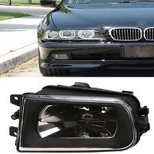 For 95-00 BMW E39 5-Serie Z3 Black R/H Fog Lights Bumper Lamps Housing H7 Bulbs