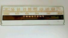 Vintage Truetone Radio Glass Dial Faceplate Part 25752 B