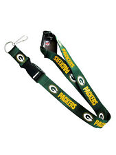 Green Bay Packers Break Away Clip Lanyard with Double Sided Logo key ring