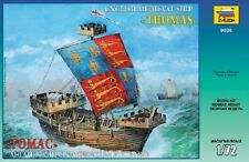 ZVEZDA 9038 ENGLISH MEDIEVAL SHIP THOMAS SCALE MODEL KIT 1/72 NEW