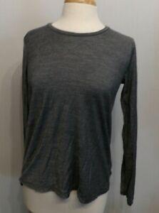 women's Bombas Long Sleeve Crew neck Merino Wool Blend Lightweight Shirt Sm EUC
