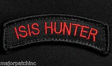 ISIS HUNTER TAB US ARMY USA BLACK OPS RED HOOK PATCH