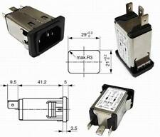 Schurter C14 Gerätestecker Kaltgerätestecker Klemmen 6,3mm 10A 250VAC 1 Stück