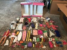 Vintage Barbie Doll & Clothes Lot Accessories