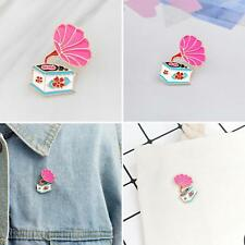 for Clothes Backpack Music Lover G Kf_ Cute Phonograph Brooch Pin Enamel Badge