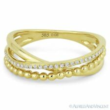 0.08 ct Diamond Right-Hand Multi Arch Stackable Overlap Ring in 14k Yellow Gold