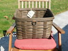 Beautiful Huge 2004 Longaberger Sort / Store Newspaper Dark Brown woven basket