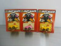Vintage McDonald's 1985  Fast Macs Happy Meal Set of 3 Toys Still in The Pack
