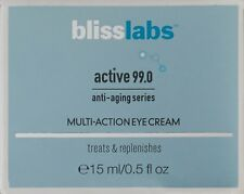 NIB Bliss Labs Blisslabs Active 99.0 Multi-Action Eye Cream 0.5 fl oz