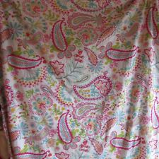 Pottery Barn Teen Flat Sheet Full Size Pink Paisley Bedding