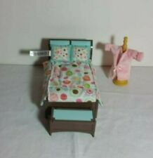 Lot of 5 Fisher Price Loving Family Dollhouse Bedroom Furniture & Accessories