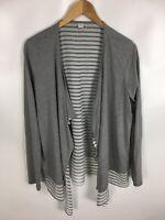 S. OLIVER Jacke, Shirt, grau weiß, Größe 40, Baumwolle