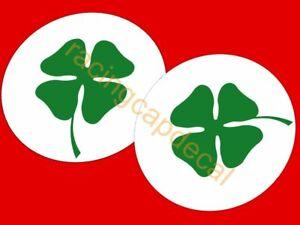 """3"""" 76.2mm alfa romeo round clover 4 leaf Decal Sticker quadrifoglio verde 155 75"""