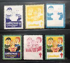 1940 Six Christmas Seals, Five Progressive Color Proofs