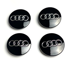 4x Audi Alloy Wheel Center Caps Glossy Black 70mm 8D0 601170