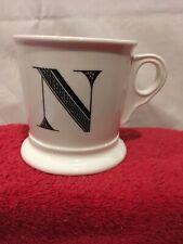 New listing Anthropologie Monogram Mug Letter N Large Stoneware Alphabet Initial Cup Mug