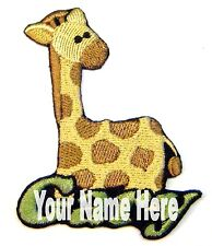 Giraffe Custom Iron-on Patch With Name Personalized Free