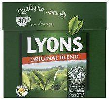 LYONS TEABAGS ORIG GREEN 12x40'S
