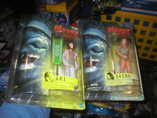 PLANET OF THE APES MOVIE SERIES FIGURES ARI AND DAENA, BOTH UNOPENED.